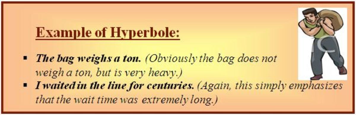 Hyperbole example