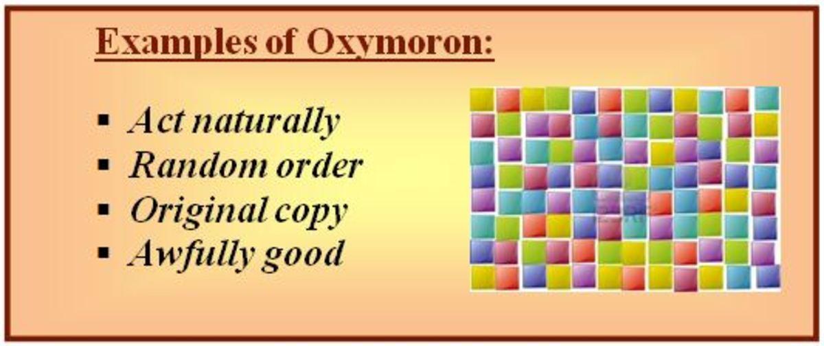 Oxymoron example