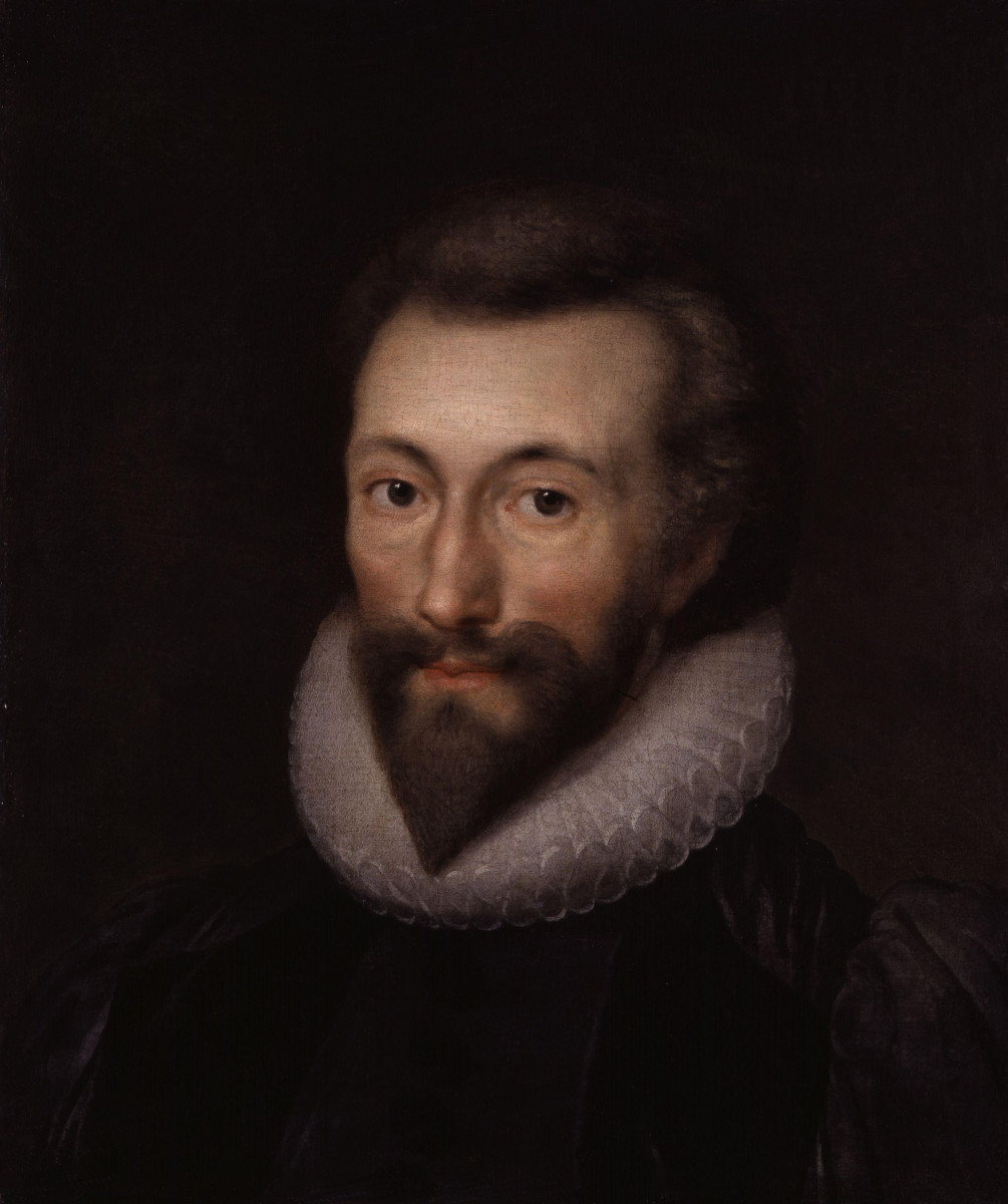 Portrait of John Donne; Isaac Oliver [Public domain], via Wikimedia Commons