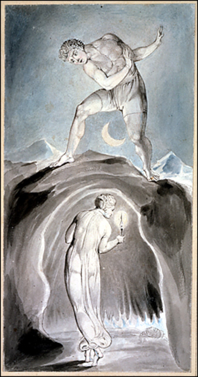 The Soul Exploring the Recesses of the Grave; William Blake [Public domain], via Wikimedia Commons