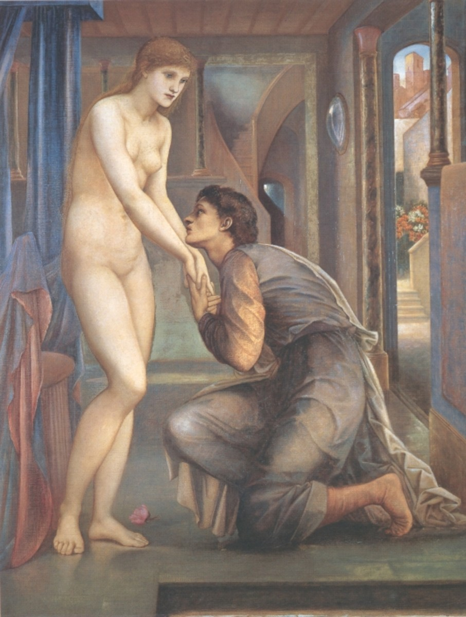 The Soul Attains, 2nd series; Edward Burne-Jones [Public domain], via Wikimedia Commons
