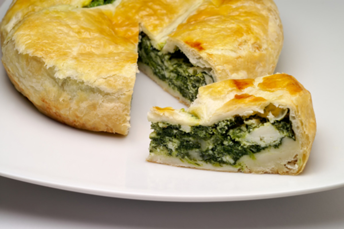 More modern flavours - Spinach & Cheese pie Image:  Claudio Baldini|Shutterstock.com