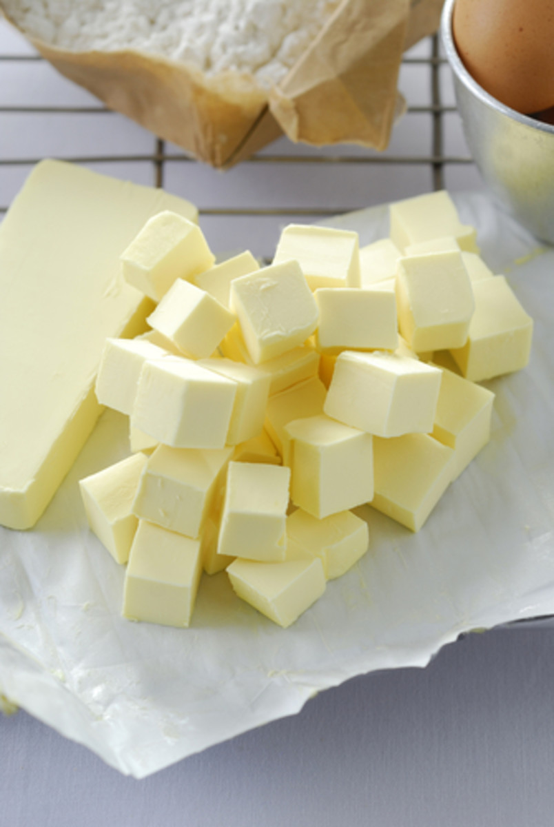 Chilled Butter & Flour to prepare pie pastry. Image:   pick|Shutterstock.com