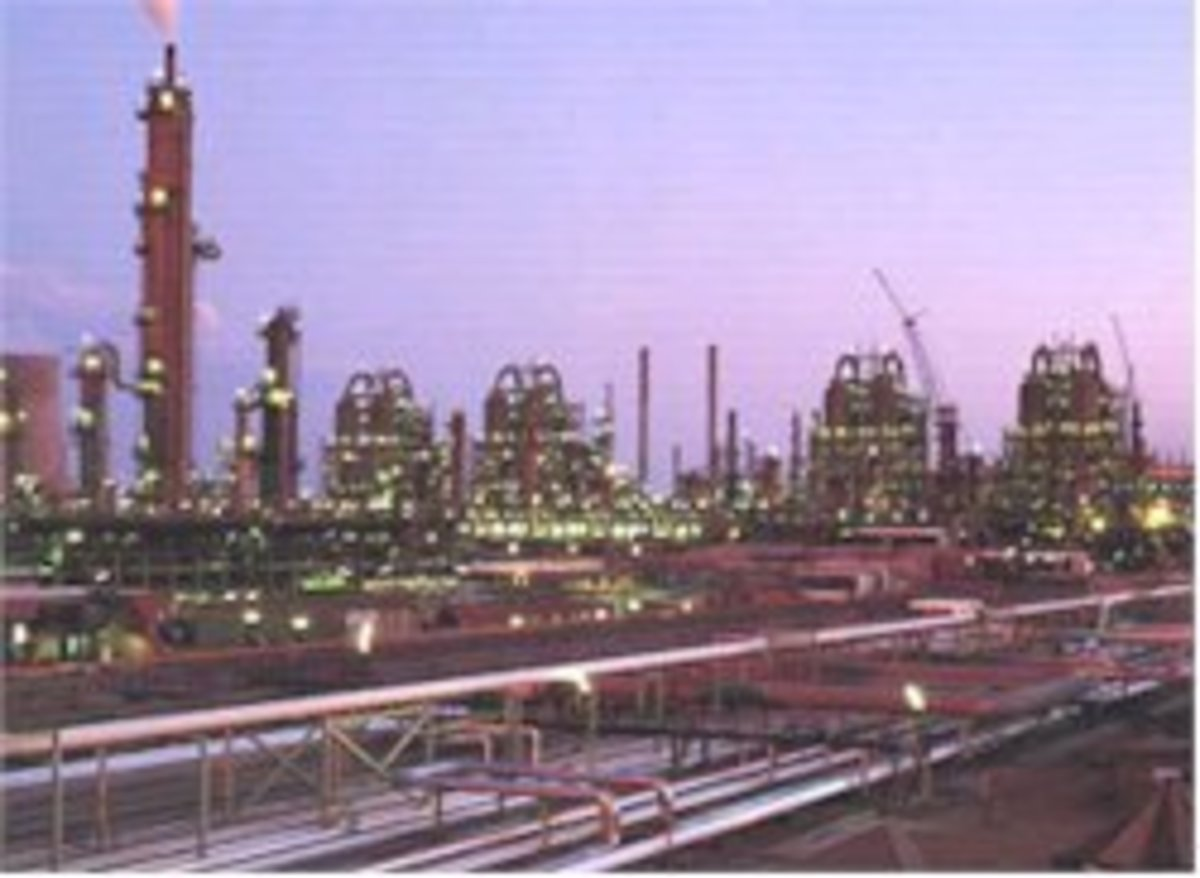 The Sasol Fischer-Tropsch plant in South Africa