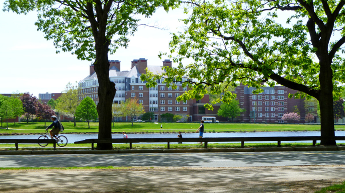 Courtyard View of the Charles River and Promenade