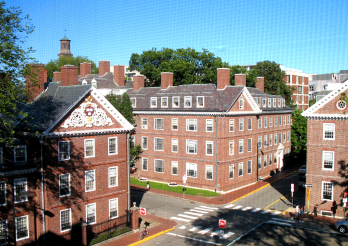 View from Gore Hall to Lowell House and Quincy House beyond