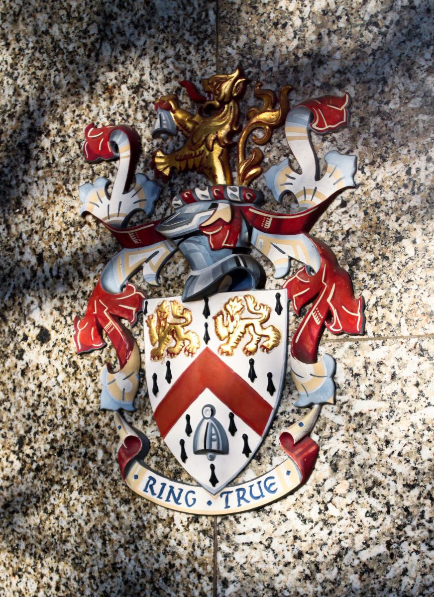 Crest of Wolfson College, Cambridge