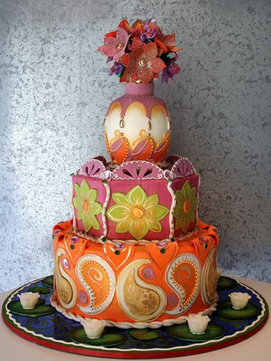 Rosebud Indian Wedding Cake
