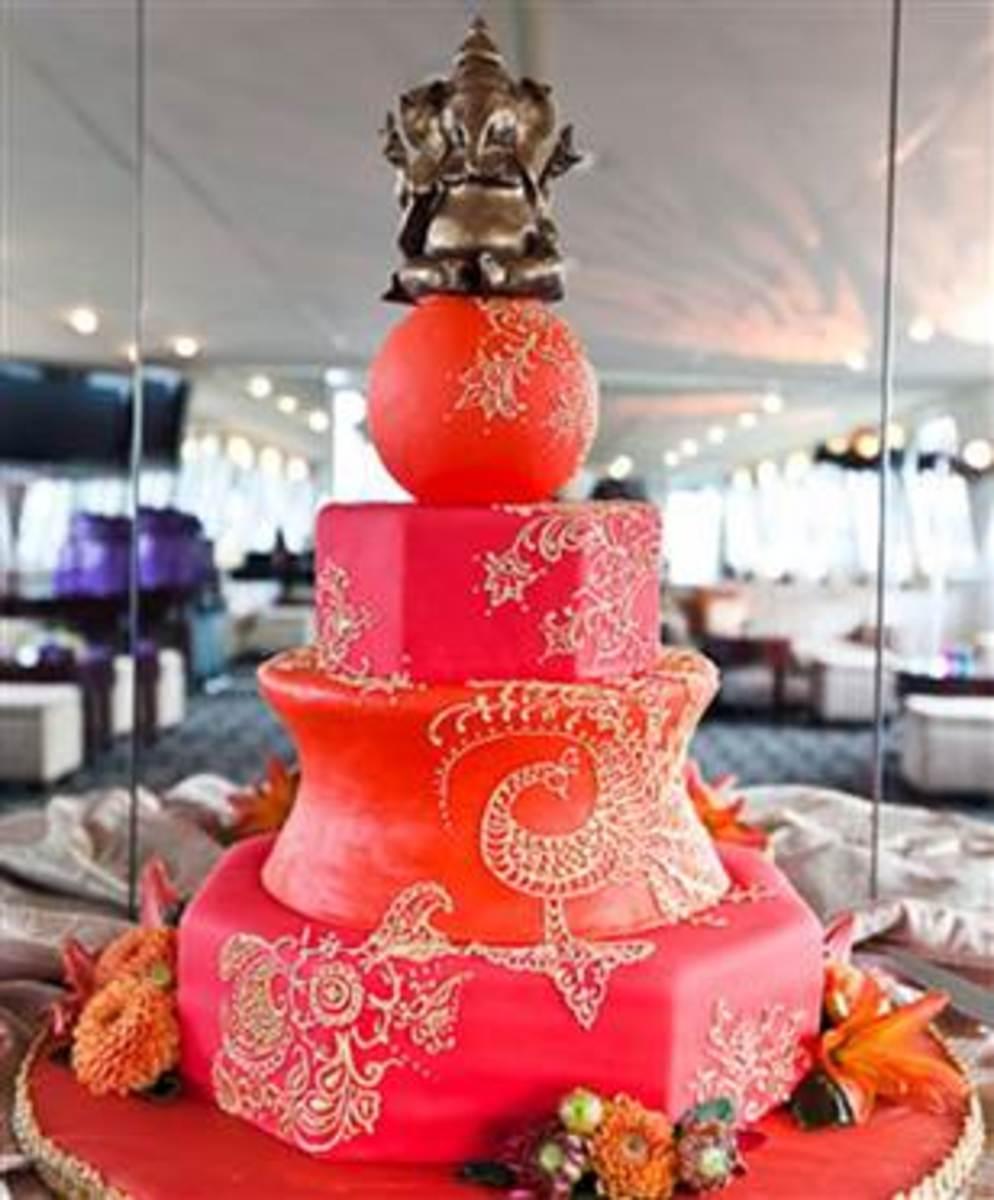 Ganesha Cake Images : Top 10 Indian Themed Wedding Cakes