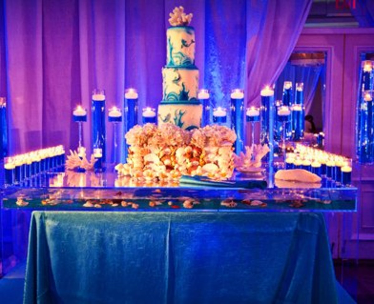 Blue Themed Indian Wedding Cake