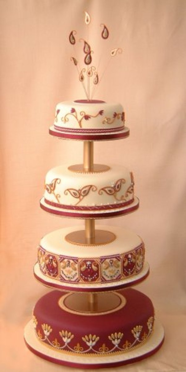 Simple Indian Wedding Cake