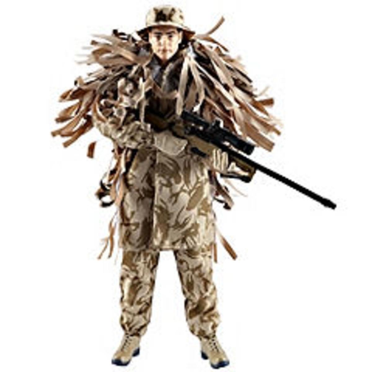 Royal Marine Commando Sniper with Hawk Eyes