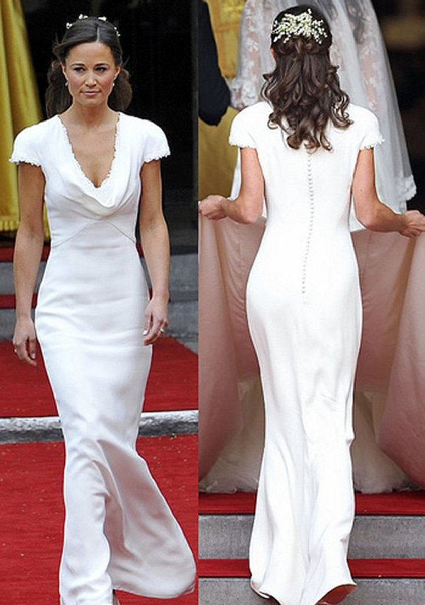Pippa Middleton looking stunning in the designer