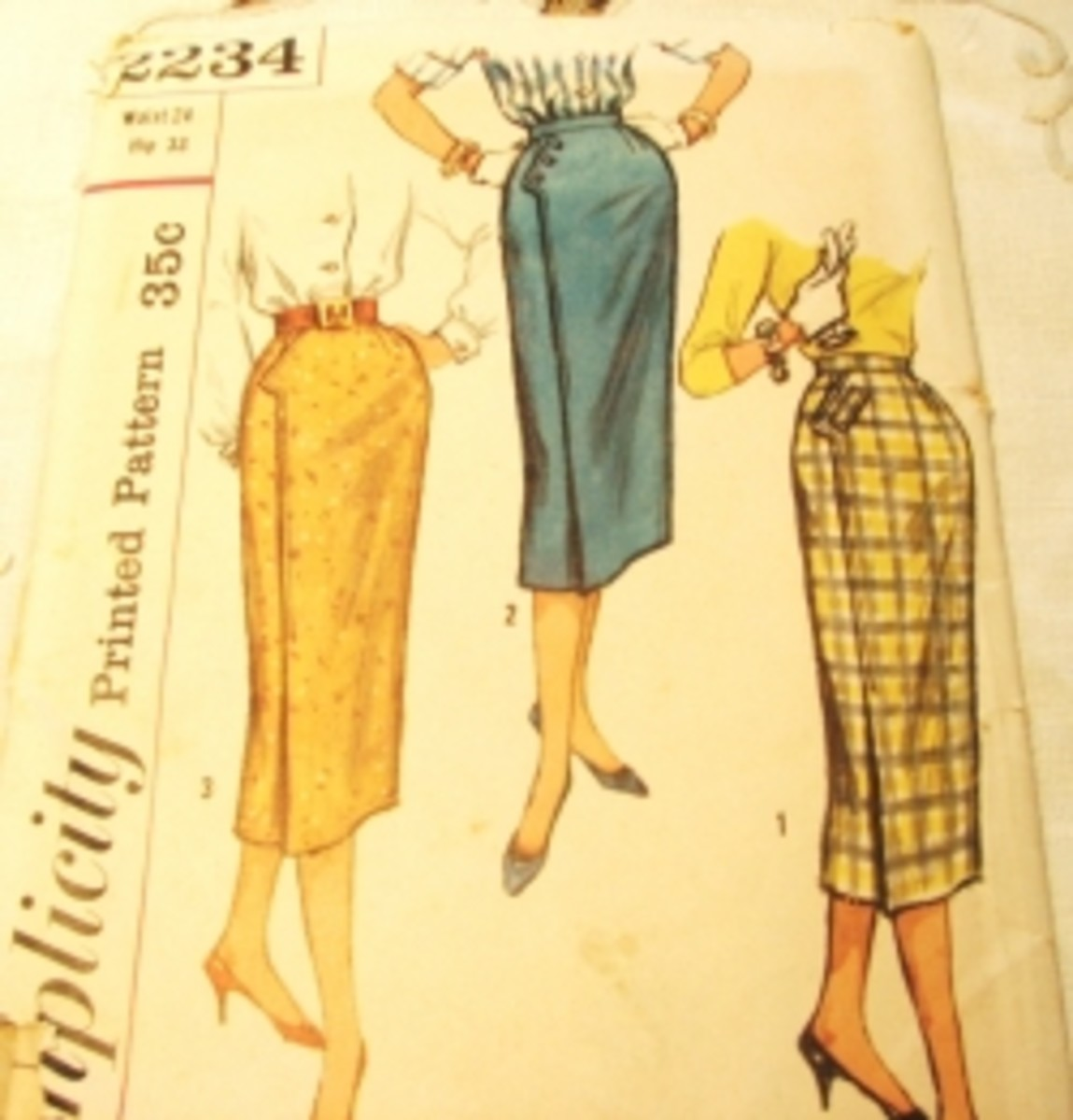 Classic skirts patterns from the 50's