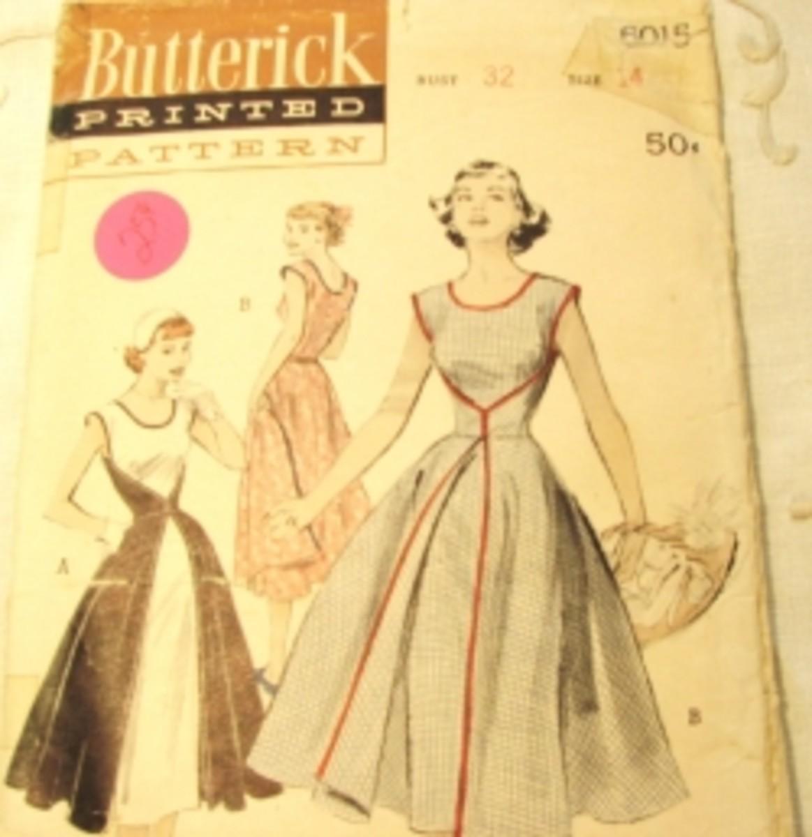 Estate sale find for .25 cents.Vintage Wrap-Around Dress