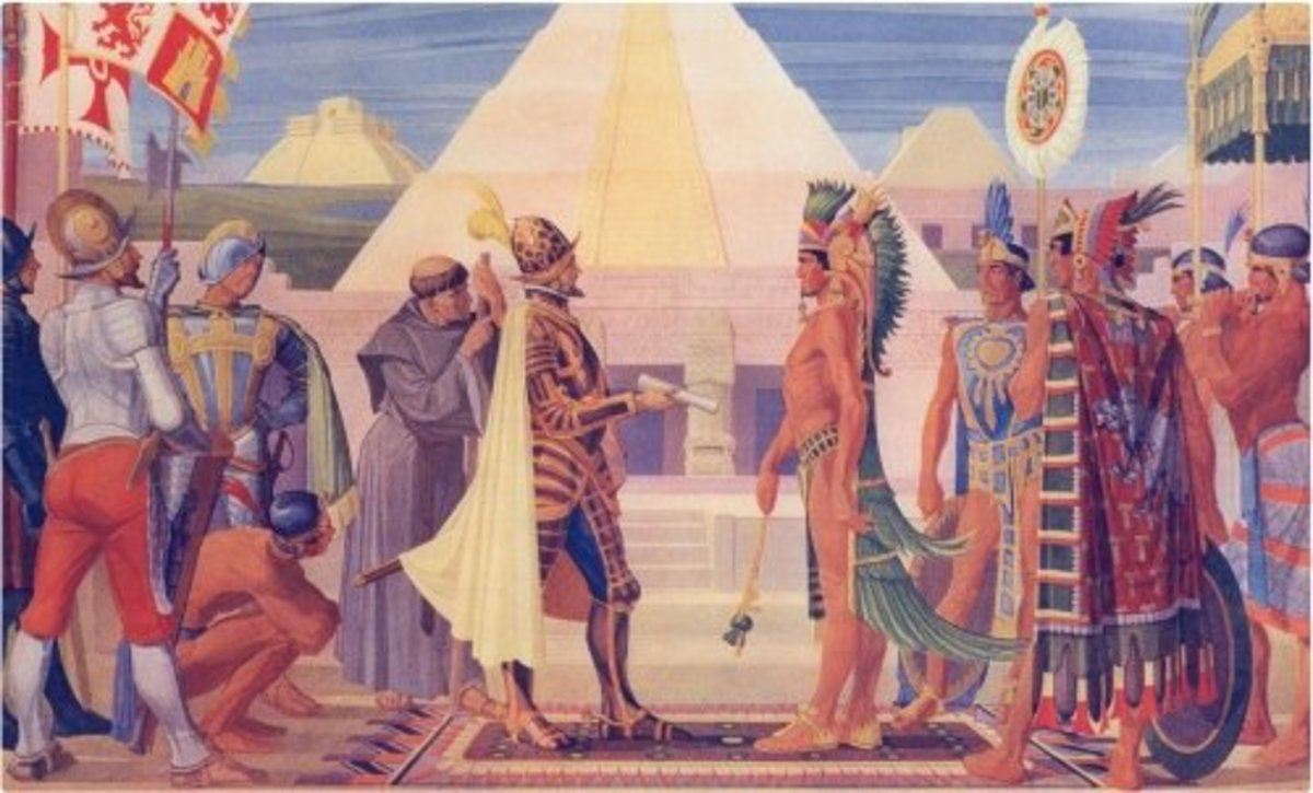 Hernan Cortes meet with Aztecs ruler who gave him Chocolate drink. Cortes then trade it to Europe, but Swiss made it famous snack.