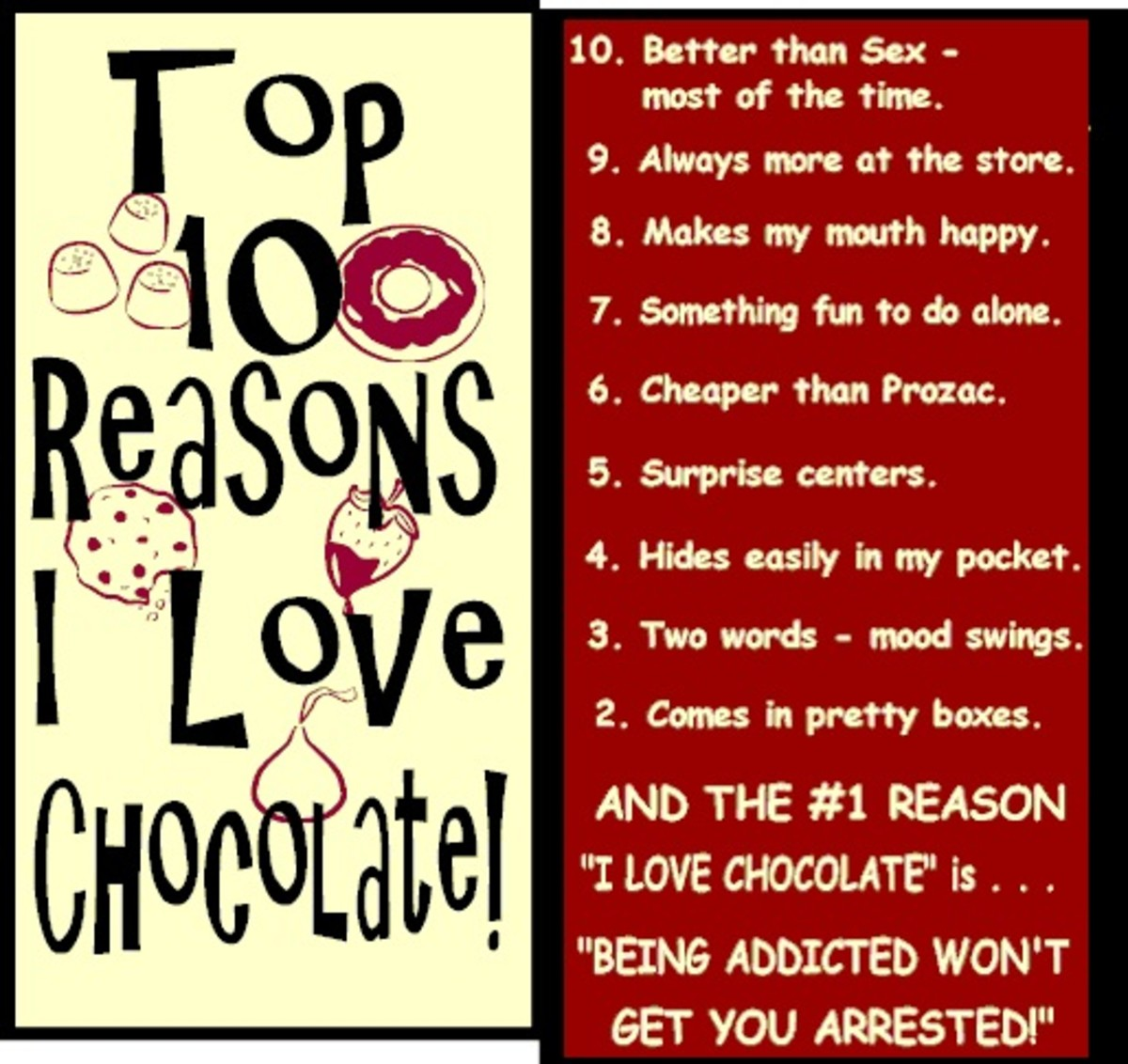 What your next 11 reasons?
