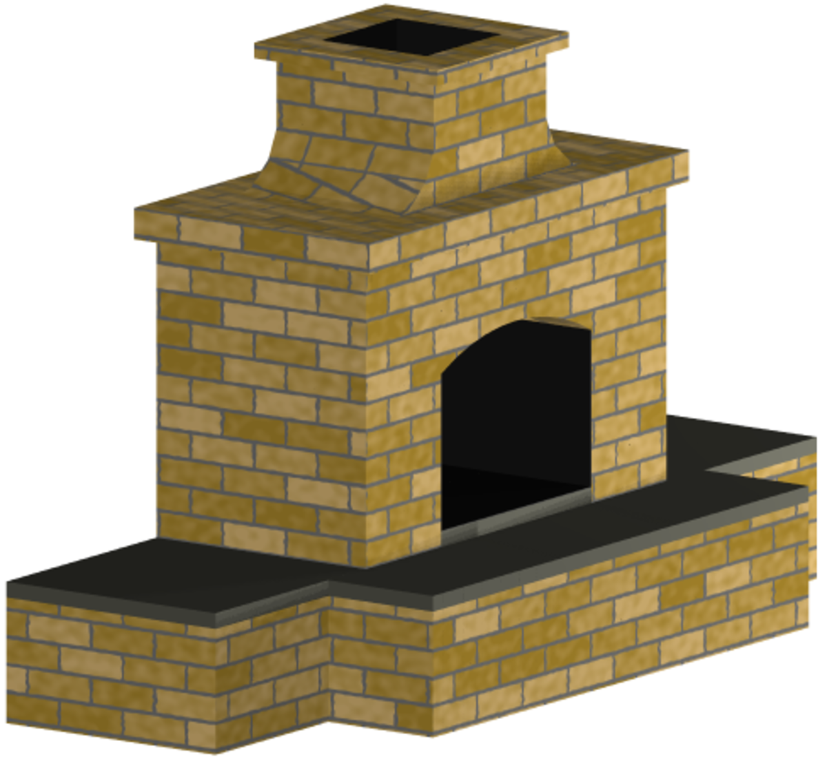 Chimney Construction Materials : Outdoor fireplace plans and building materials