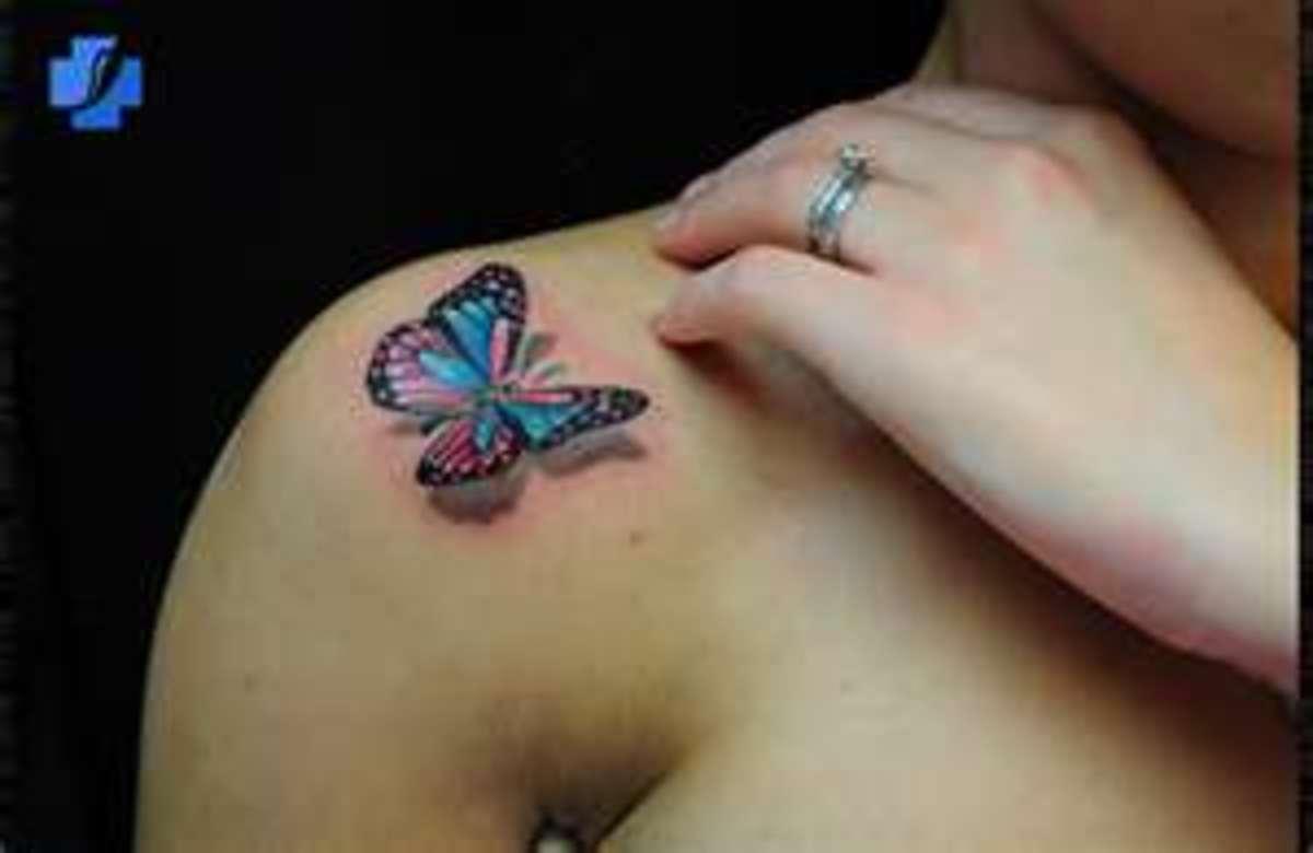 3D Butterflies Tattoos