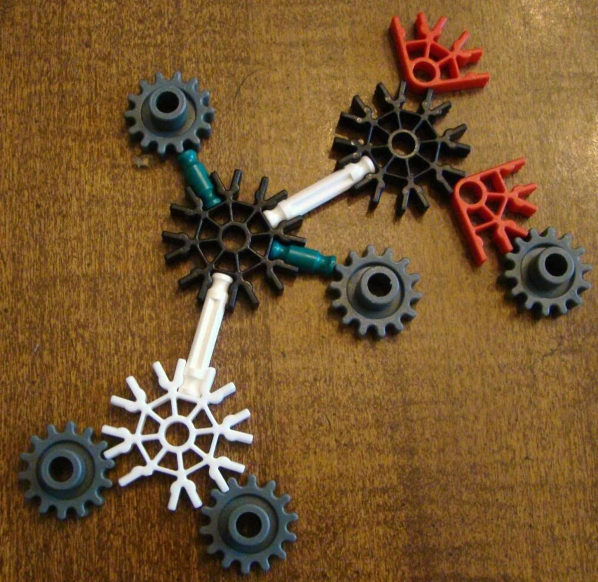 We made molecules with K'nex.
