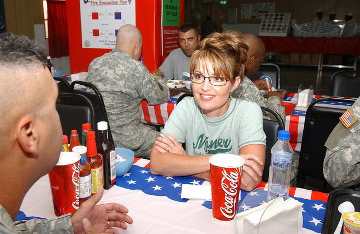 Sarah Palin is one who looks great wearing glasses!