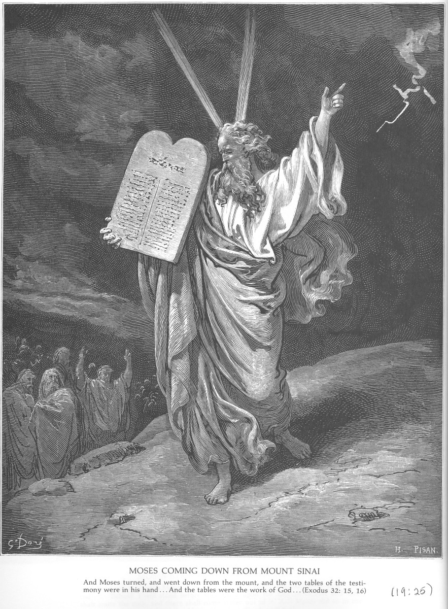 Moses Coming Down from Mount Sinai Gustave Doré 1832-1883
