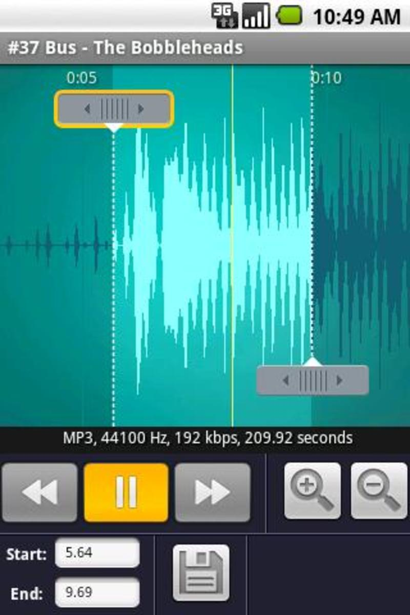 RingDroid, the app that lets you cut any MP3 and set it as RingTones or AlertTones
