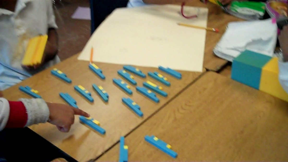 Using base ten blocks are a nice way to help students understand the concept of place value.