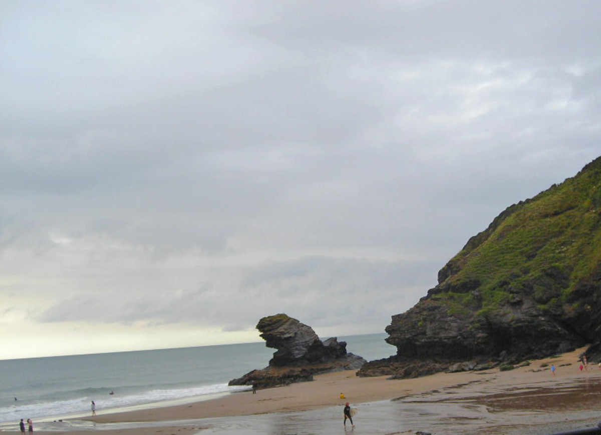 Rugged Volcanic Rocks on the Welsh Coast at Llanelly