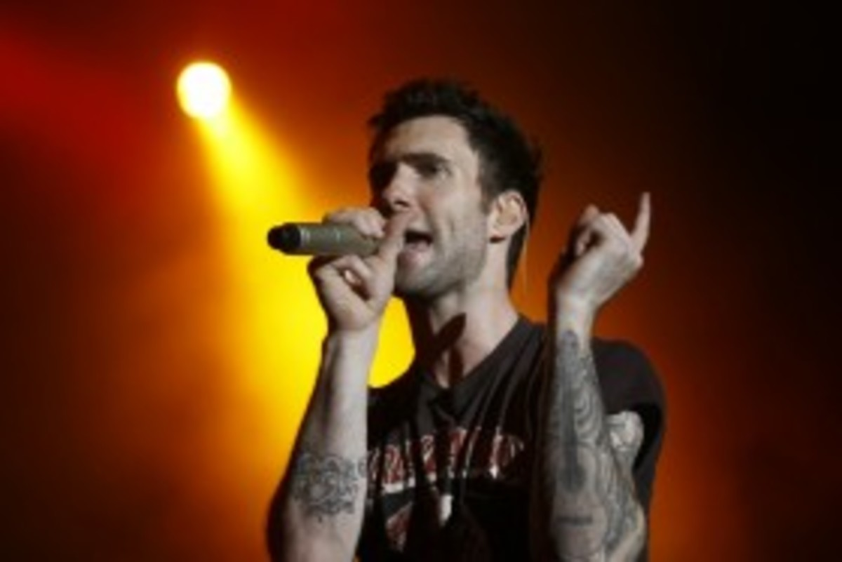 Adam Levine, from the band Maroon 5, has several tattoos covering his body.