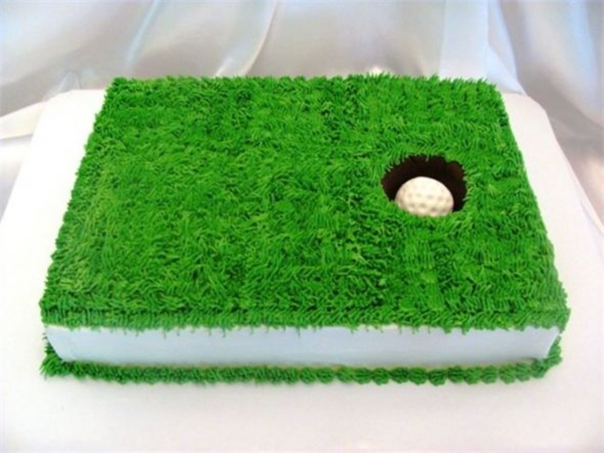 Golf green cake