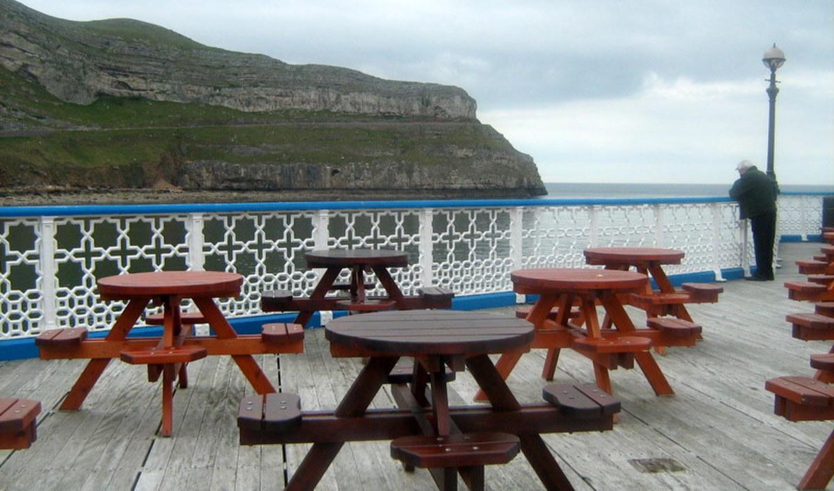 A cafe on Llandudno Pier in North Wales
