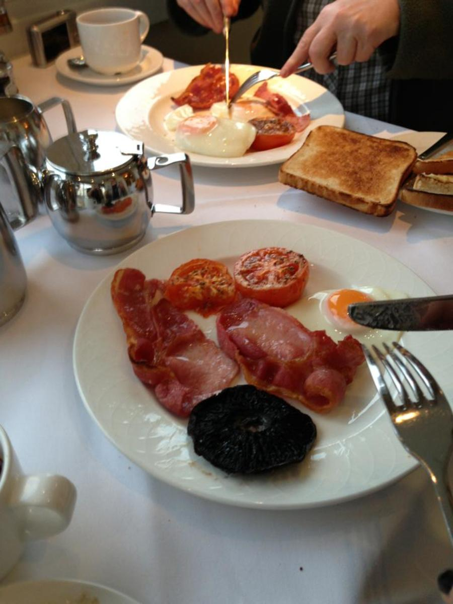 We had a great cooked breakfast at the hotel