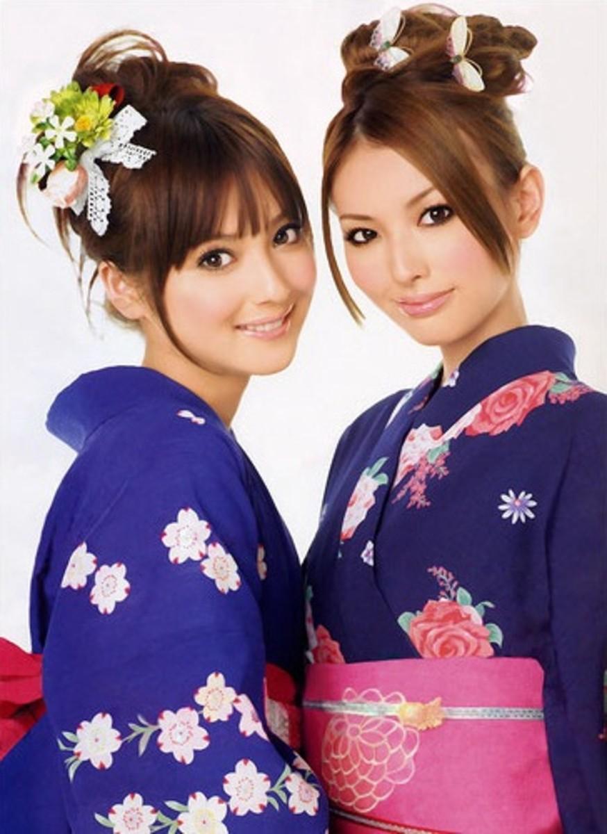 Japanese Girl with Yukata dress
