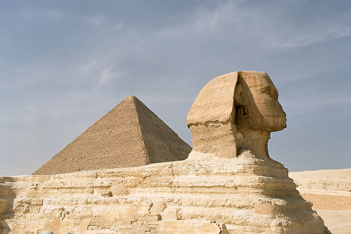 The Great Pyramid and Sphinx at Giza, just two of the construction projects that lead to Egypt's civil war.
