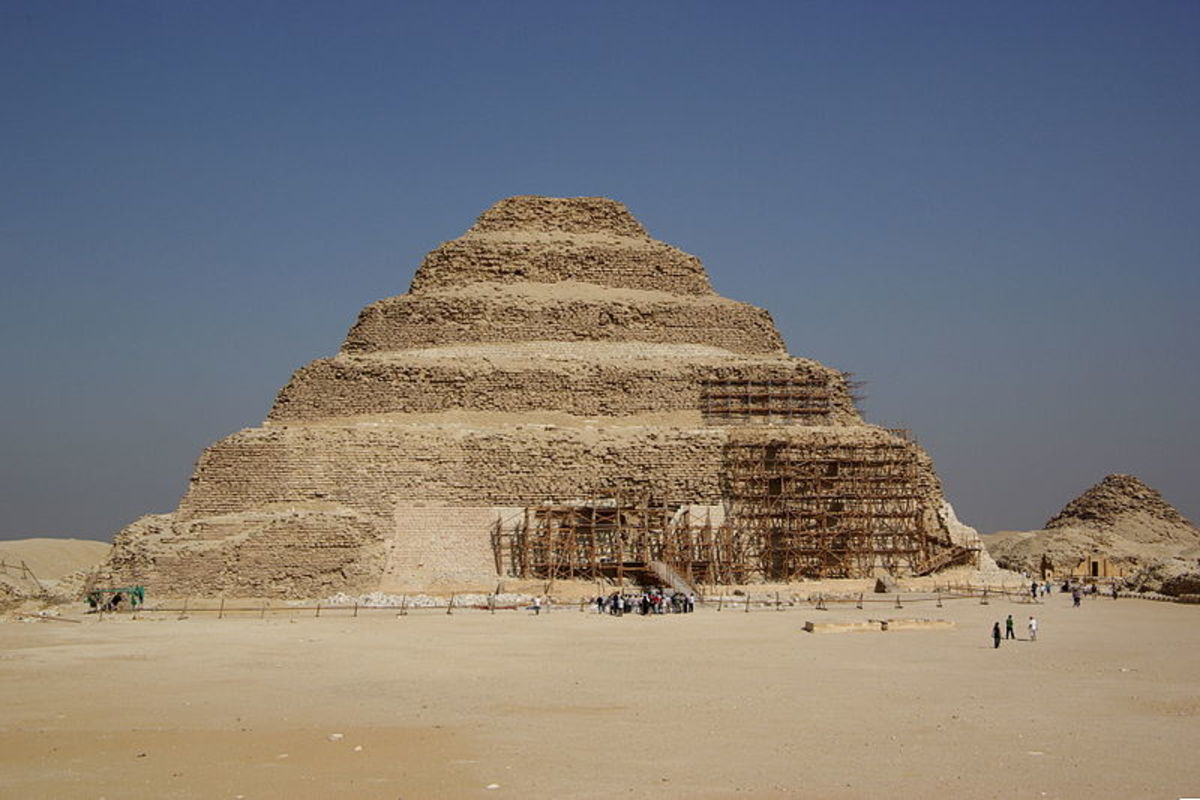 The step pyramid of Djoser, one of the architectural triumphs of the Old Kingdom