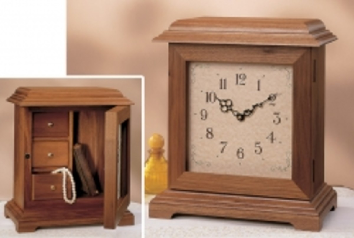 Mantle Clock With Hidden Jewelry Box