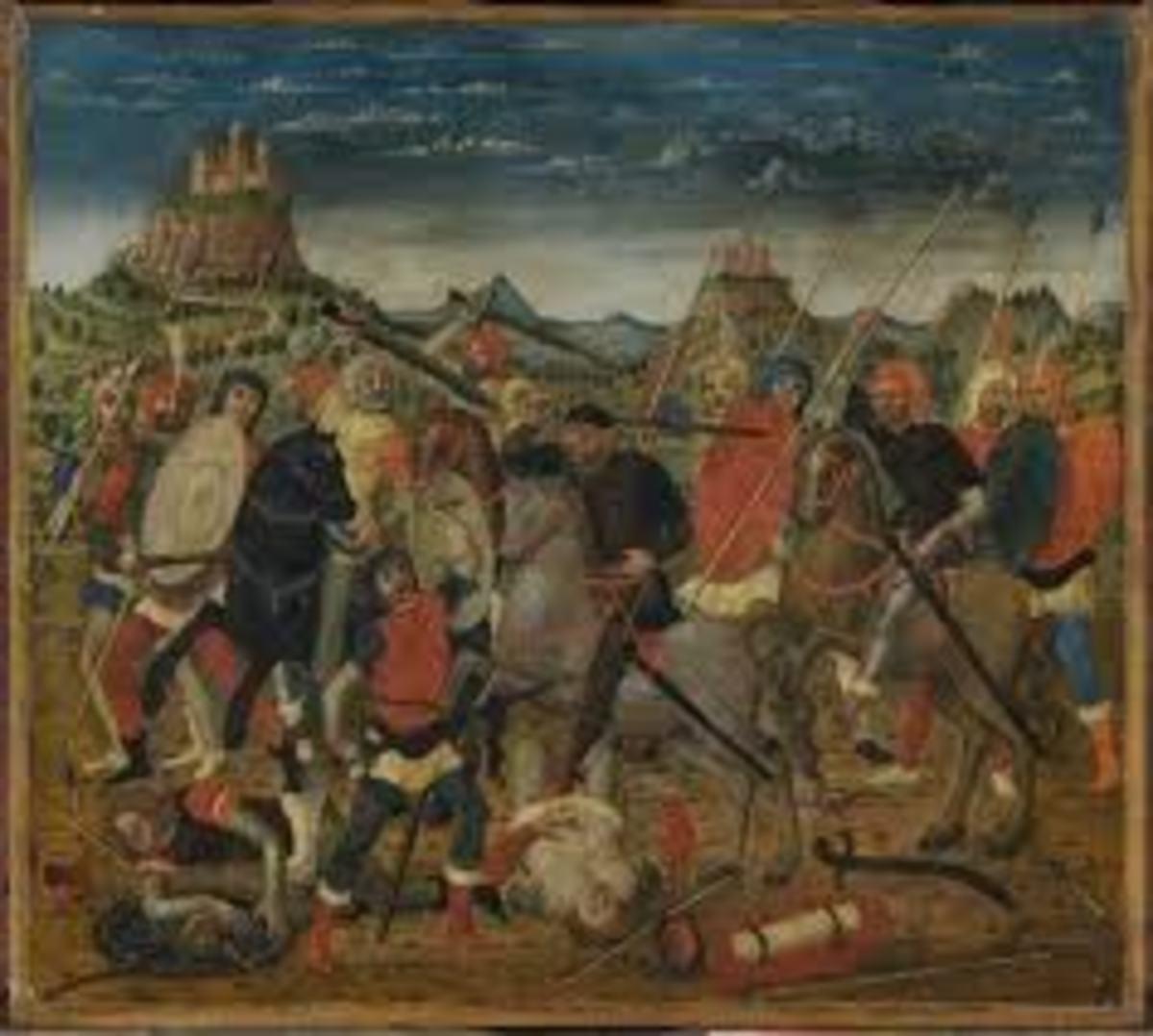 The Death Of Uriah The Hittite by Bernardino Luini