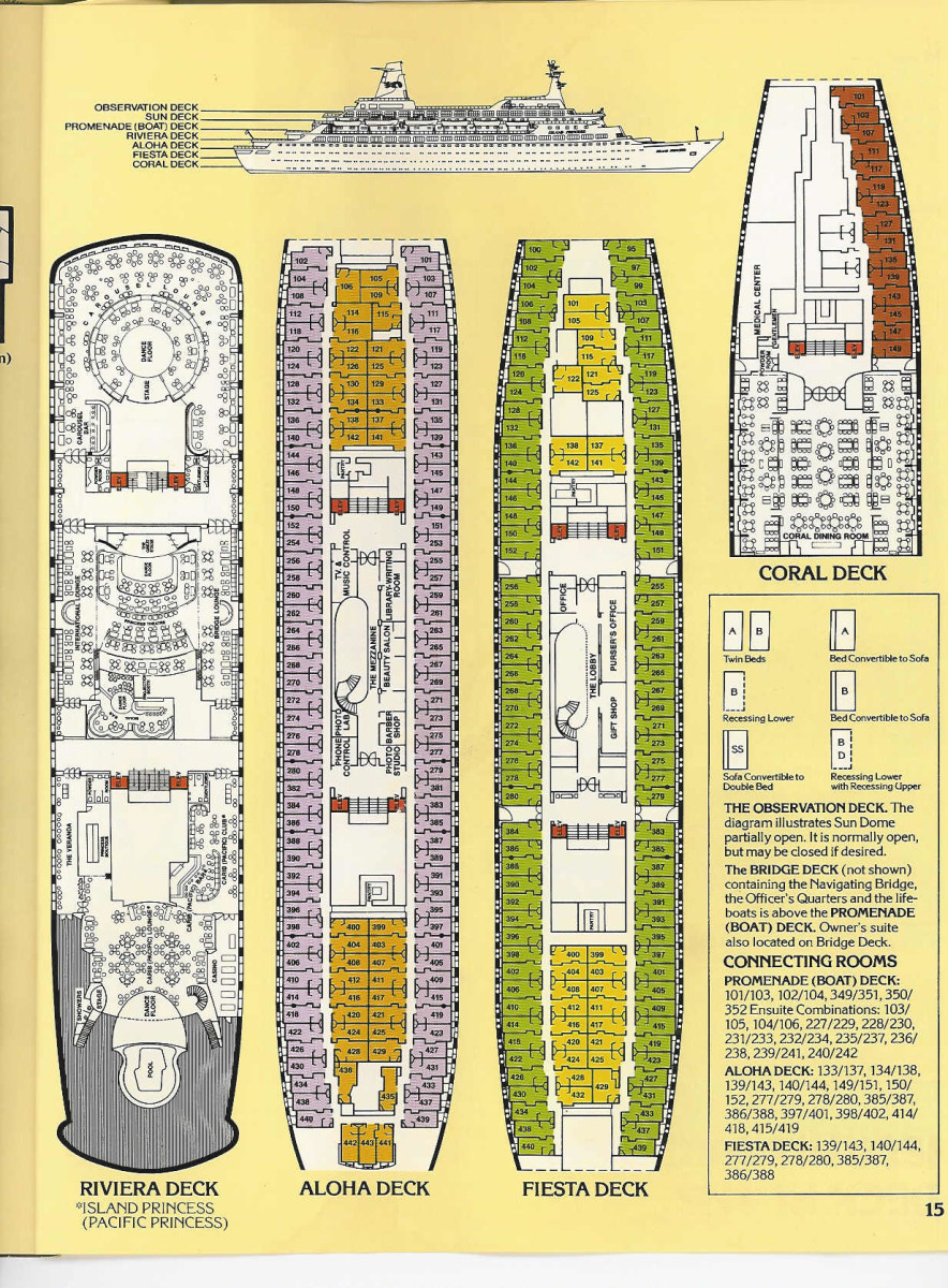 Pacific Princess & Island Princess Deck Plans -Pt II