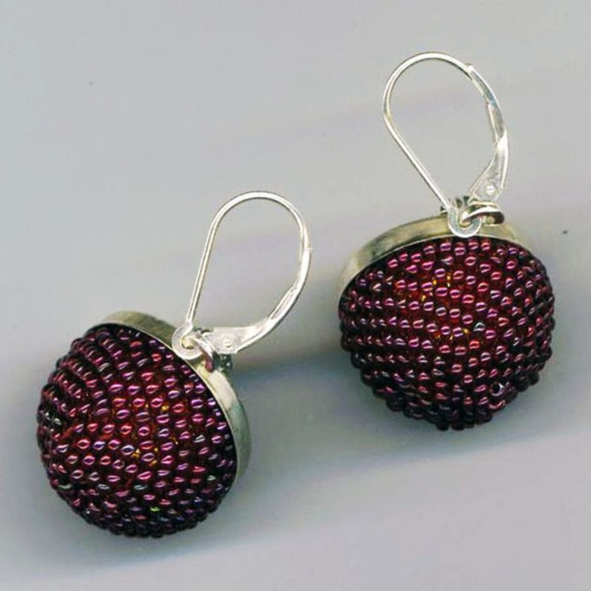 Beaded beads make wonderful earrings.  There are a number of different possibilities for the earring wires.