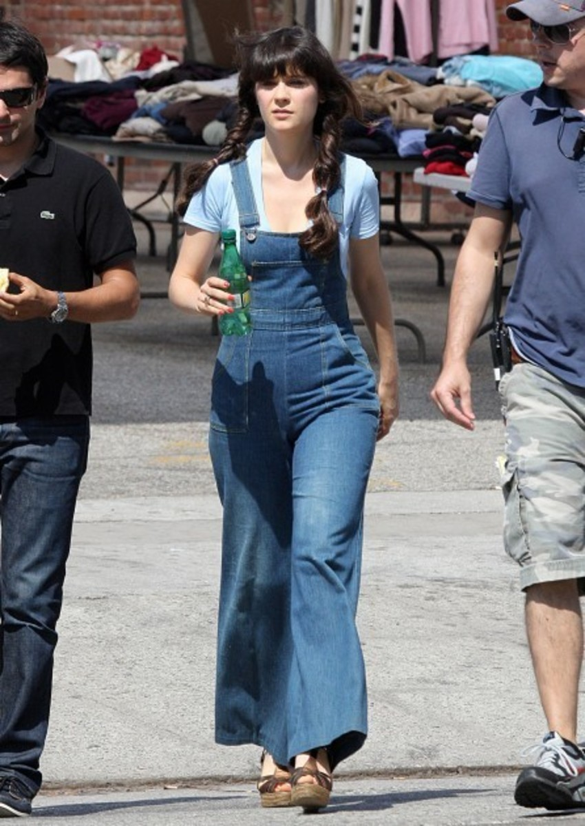 Zooey Deschanel on set of Yes Man
