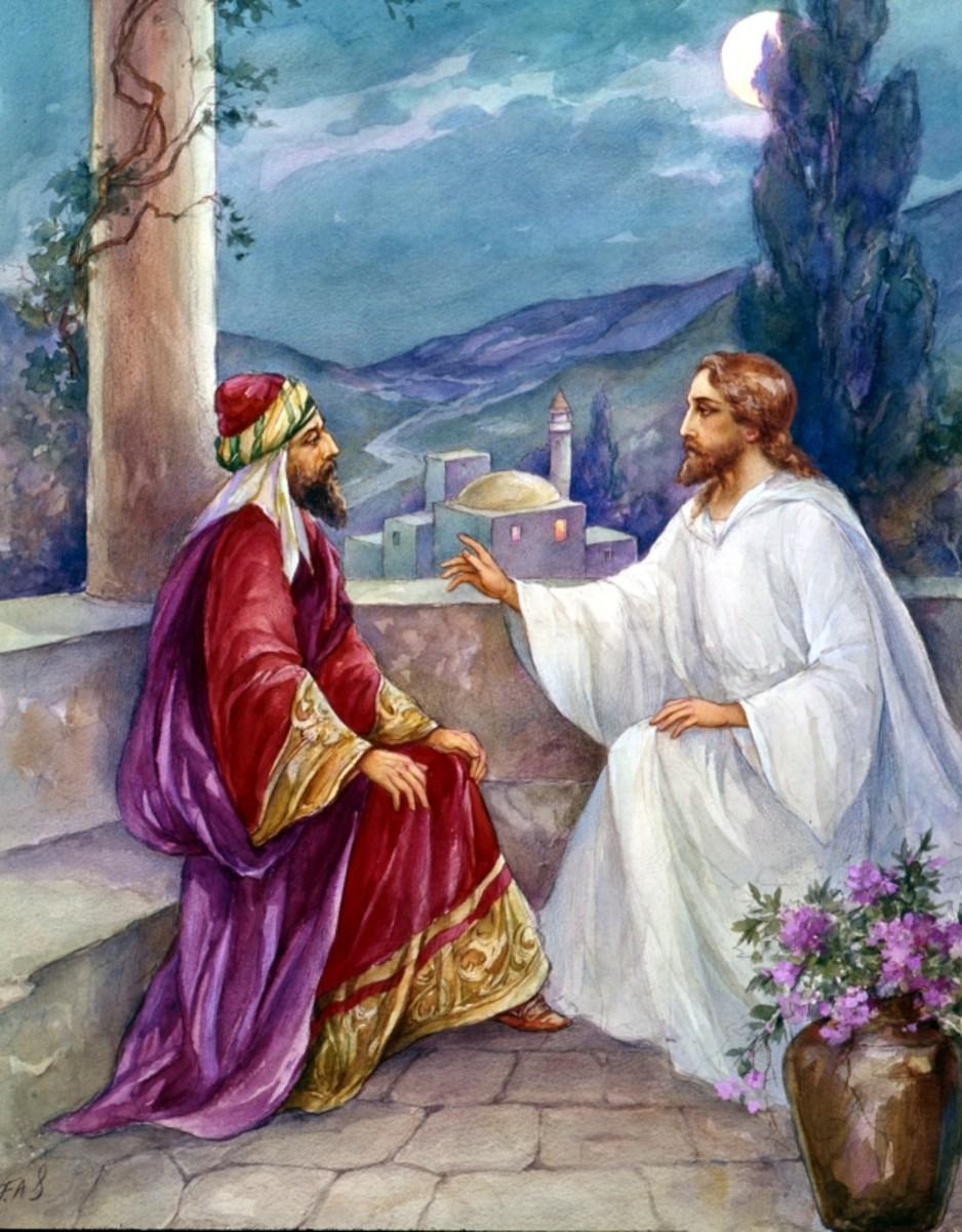 Jesus did not get into an argumentative debate with Nicodemus. He met Nicodemus where he was at, and preached to him in love.