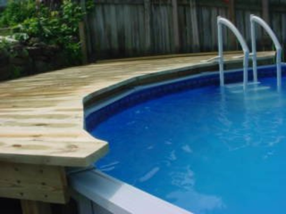 Bill on hubpages for How to build above ground pool deck