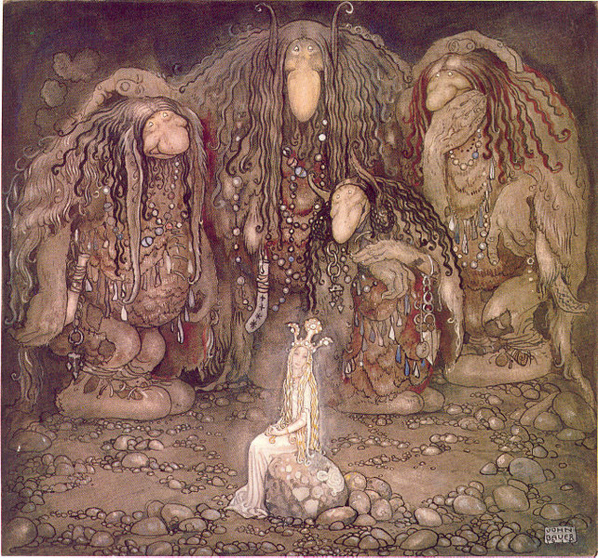 John Bauer  is famous for his images of Trolls