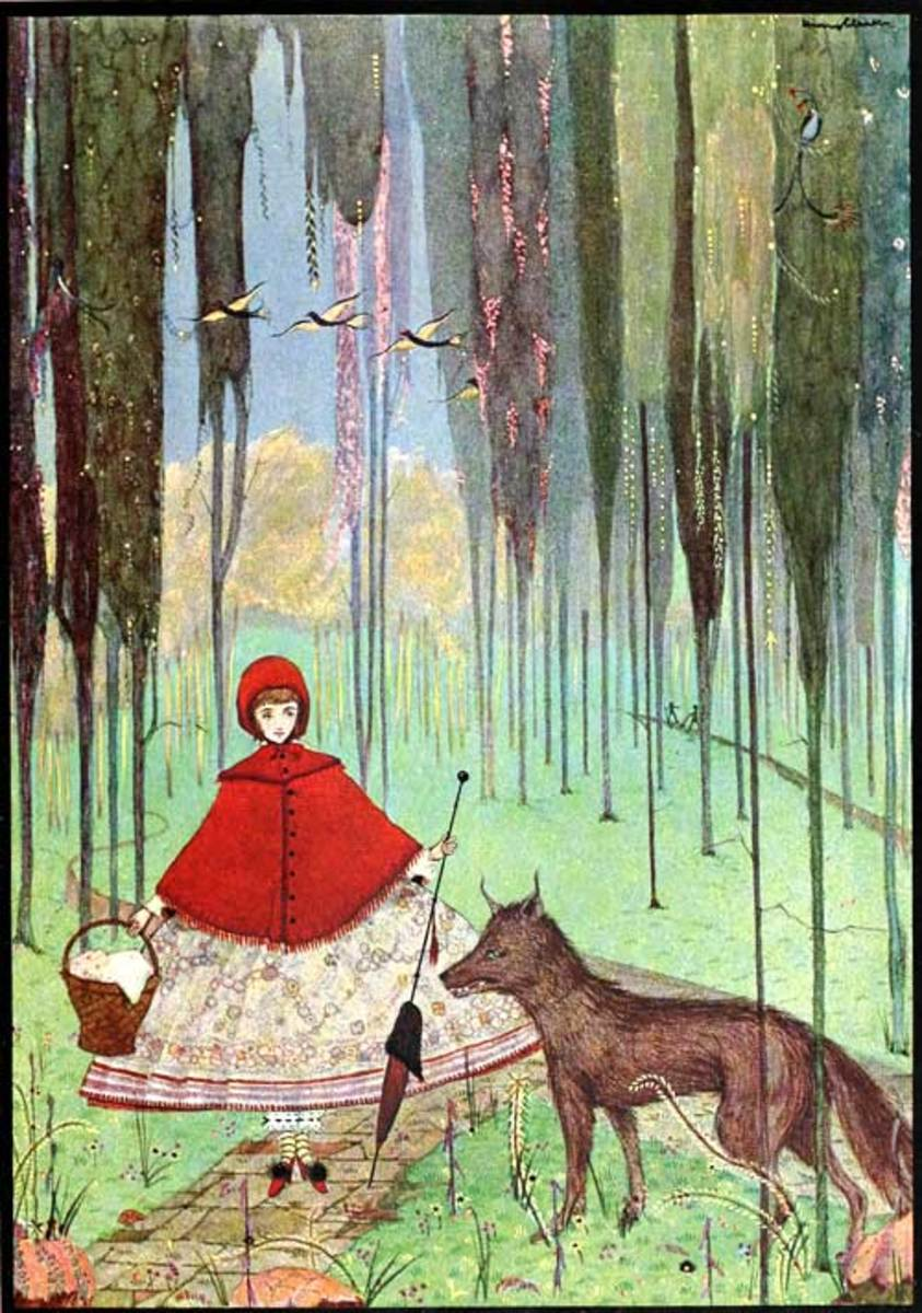Little Red Riding Hood by Harry Clarke from The Fairy Tales of Charles Perrault
