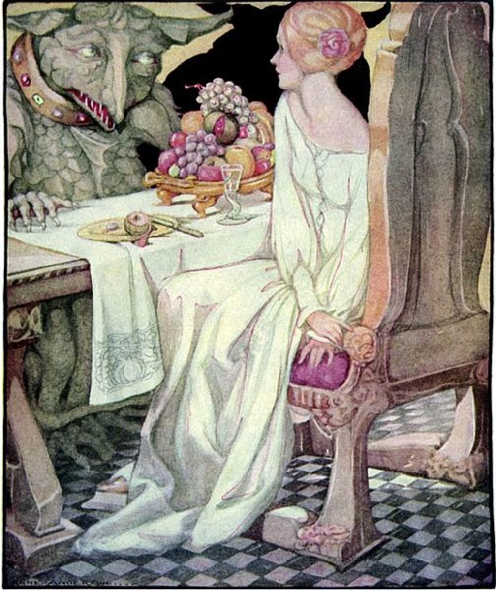 Anne Anderson's Beauty dining with the Beast