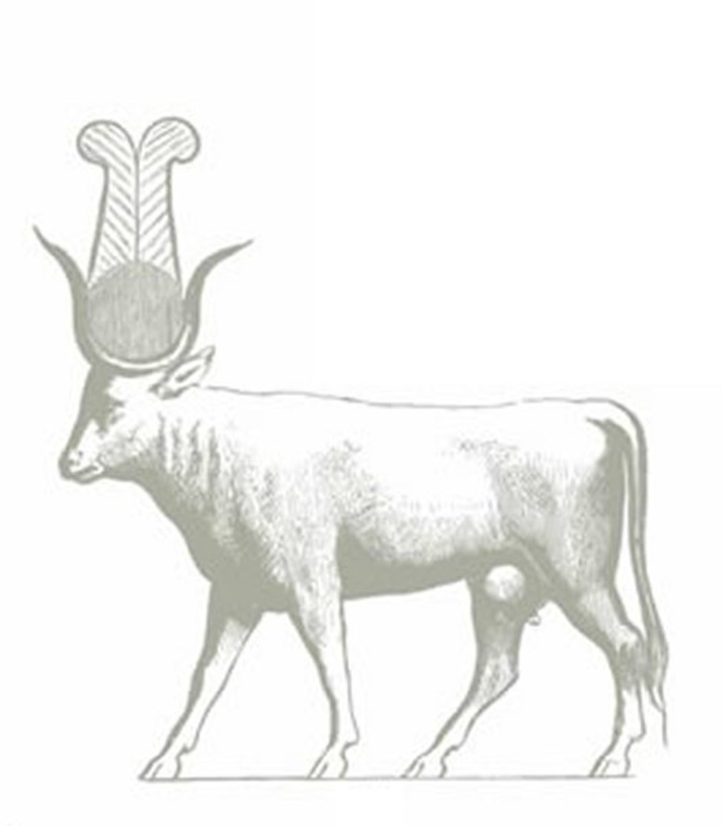 Ancient Egyptian Art Coloring Pages Free Colouring Pictures - sacred cow