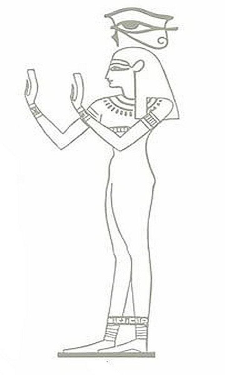 Ancient Egyptian Art Coloring Pages Free Colouring Pictures - deity