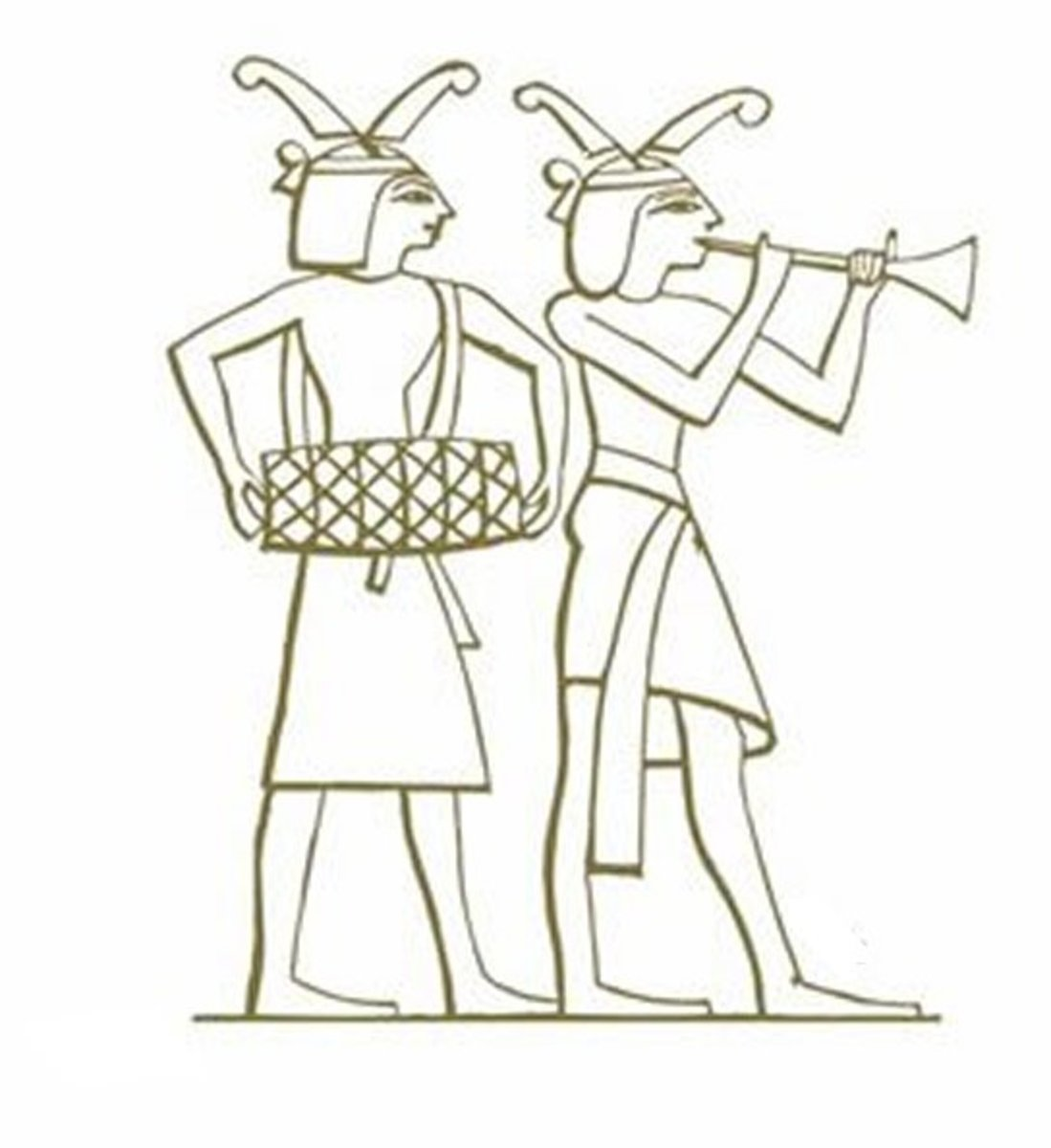 Ancient Egyptian Art Coloring Pages Free Colouring Pictures - Court entertainment