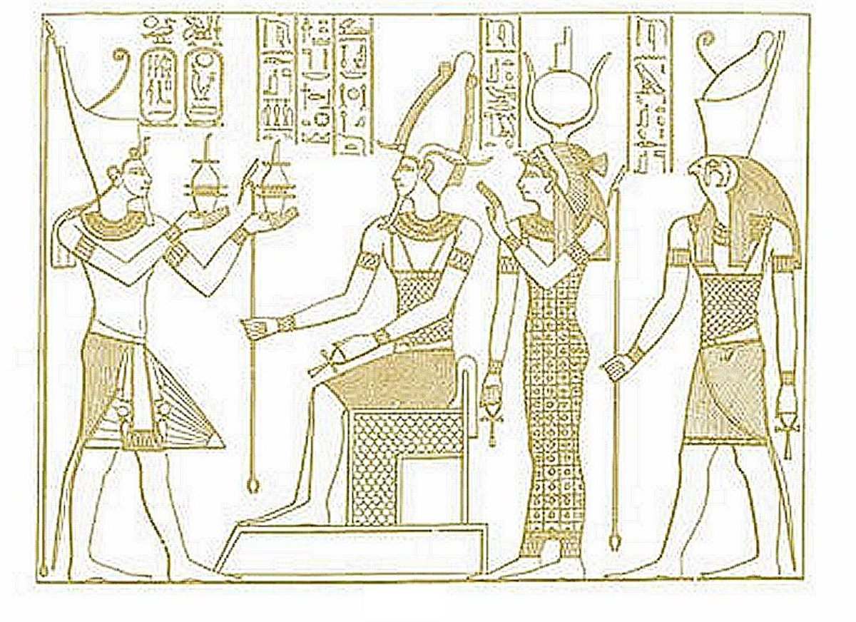 Ancient Egyptian Art Coloring Pages Free Colouring Pictures - coronation